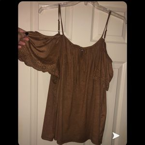 Brown velvet top